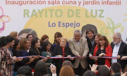 "Presidenta Bachelet inauguró jardín infantil ""Rayito de luz"""