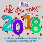 SINATI LES DESEA UN FELIZ 2018