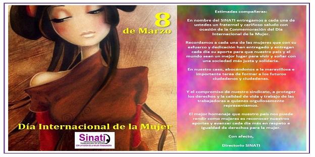 SINATI les desea un Feliz Día Internacional de la Mujer