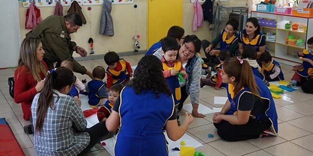 San Fernando: Sala cuna de Integra trabaja de la mano con Carabineros