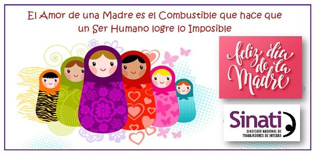 Feliz Día de la Madre les desea SINATI