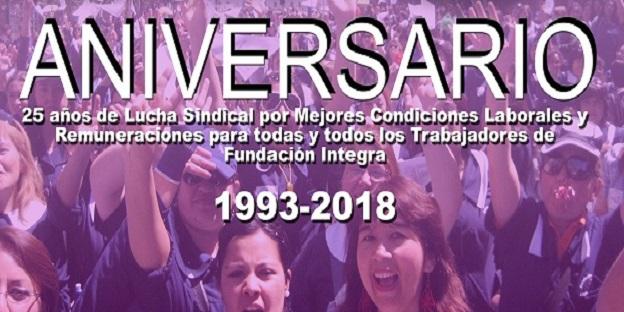 RECUERDA: Este año SINATI tu sindicato cumple sus primero 25 años de vida… FELICITACIONES