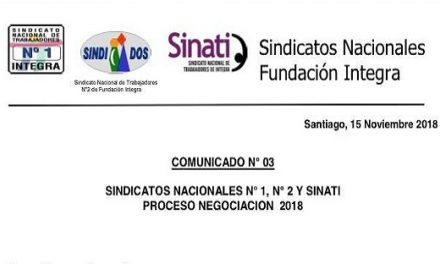 SINDICATOS NACIONALES COMUNICADO N° 03 PROCESO DE NEGOCIACIÓN 2018