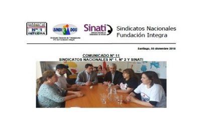 SINDICATOS NACIONALES COMUNICADO N° 11 PROCESO DE NEGOCIACIÓN 2018 PARO 48 HORAS